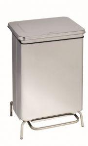 T790760 Stainless steel static pedal waste bin Fire-proof 70 liters