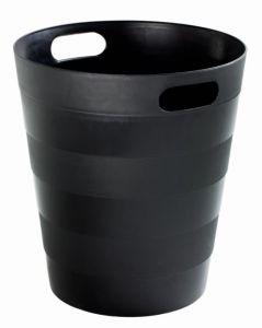 T907121 Corbeille à papier en polypropylène recyclé noir 12 litres