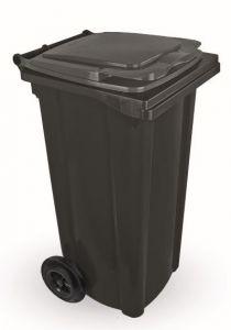 T910120 Conteneur à déchets 2 roues 120 litres GRIS sans couvercle