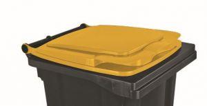 T910131 Couvercle jaune pour conteneur à déchets externe 120 litres