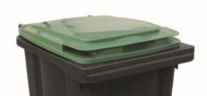 T910253 Couvercle verte pour poubelle externe 240 litres