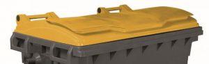 T910671 Couvercle jaune pour conteneur à déchets externe 660-770 litres