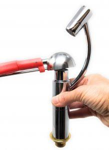 SHOVER-P Doccia professionale a pallina per lavaporzionatore con ghiera in plastica
