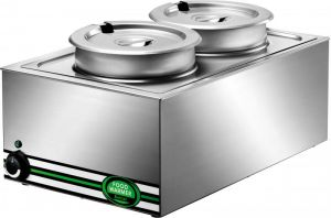 BM7720 Stainless steel lunch table double boiler with 2 pots 57x37x28h