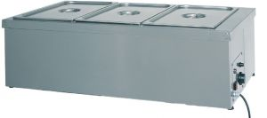 BMS1781 Mesa caliente de acero inoxidable resistencia seca 1x1/1GN 49x60x32h