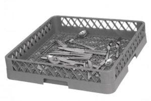 BVM Rack for dishwashing machines grey 50x50x9h cutlery