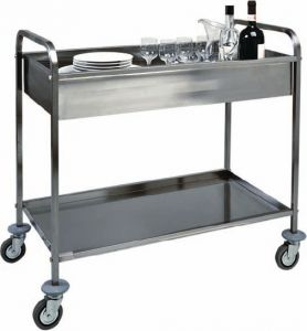 TCA 1388 Stainless steel clearing trolley One basin h150