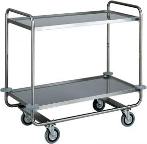 CA 1430 Stainless steel trolley tubolar 2 floors 110x60x100h