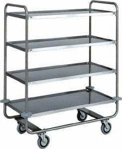 CA 1432 Stainless steel trolley tubolar 4 floors 110x60x130h