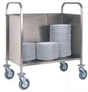 CP1441 Chariot porte assiettes empilees Capacité 200 assiettes