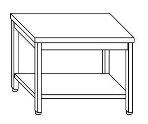 TL5052 Tavolo da lavoro in acciaio inox AISI 304 ripiano 80x60x85