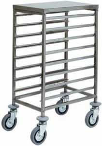 CA1478 Stainless steel GN pan trolley 8 GN1/1