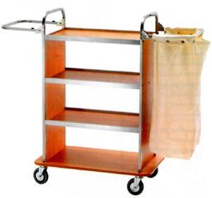 CA1510  Chariot pour linge nettoyage à usages multiples 2 Porte-sacs pliables