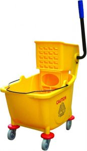CA1599E Cart cleaning with wringer and single bucket