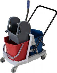TCA 1604E Carrello strizzatore pulizia 2 secchi da 25 litri