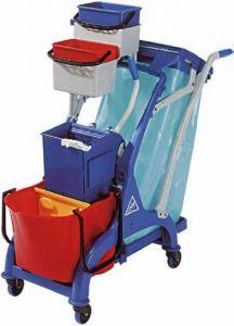 CA1613 Chariot de nettoyage en plastique 107x56x111h