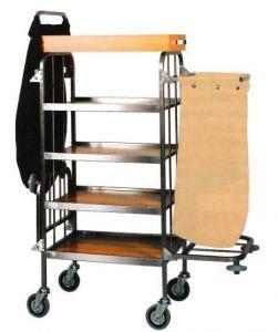 CA740  Chariot à linge de nettoyage à usages multiples 4 etageres