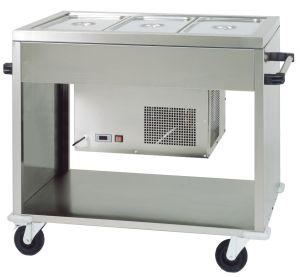 CAR2779 Carro refrigerado de acero  (+2°+10°C) 3 GN1/1 124x72x94h