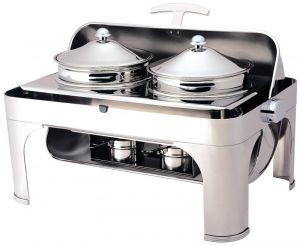 CD6505 Chafing dish acciaio inox 2 pentole 4,6 litri