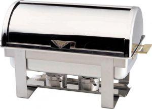 CD9801 Chafing dish rettangolare acciaio inox brillante Roll top