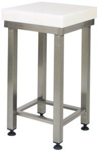 CCP8001 Cepa de polietileno 80h taburete con tubo de acero.