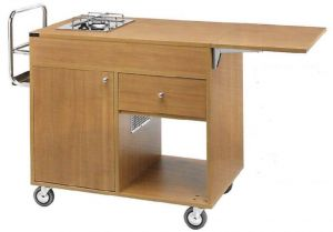 TCF 1200 Flambé cart 1 cooking range 1 Fire