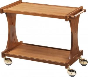 CL 2000 Wooden trolley 2 shelves Sides frames 86x55x85h