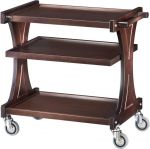 TCL 2150W Carrito de servicio de madera Wengé 3 niveles 86x55x85h