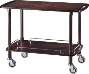 CLP 2002W Service wooden trolley wenge 2 shelves 110x55x82h