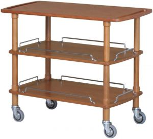CLP 2003 Wooden trolley 3 shelves 110x55x89h