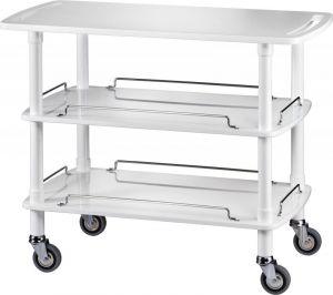 CLP 2003B Wooden trolley white 3 shelves 110x55x89h