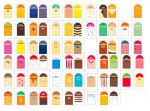 ITP384-DE Lot d'étiquettes pour marqueurs de marchés en allemand - 68 arômes + 5 neutres