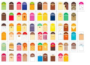 ITP384-ES Set of labels for palatable style food labels in Spanish - 68 flavors + 5 neutral