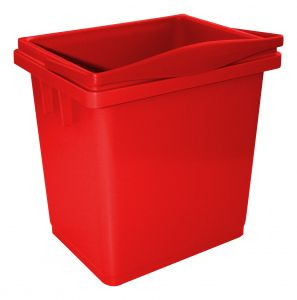 00003366R Secchio 4 L Con Manico Superiore - Rosso