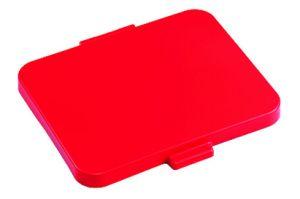 00003534 Coperchio Dust Quadrato - Rosso