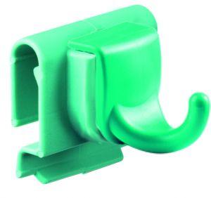 00003584 Gancio singolo con attacco per profilo stretto - Verde