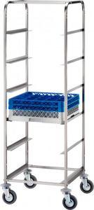 CP1442 Carrito porta cestas de acero inoxidable para lavavajillas