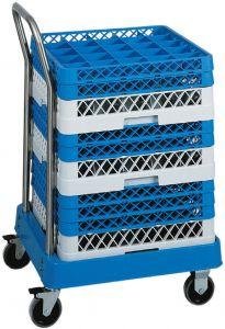 CP1447 Carro portacestas para lavavajillas Bañera ABS mango acero inoxidable