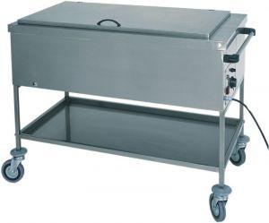 CS1751 Chauffe-biberon thermique au bain-marie en acier inoxydable avec couvercle 56x65x85h