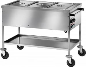 CT1760TD Bain-marie trolley Differentiated temperatures 3x1/1GN 117x67x85h