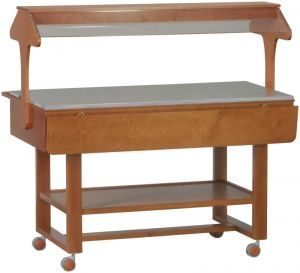 ELN2835 Présentoir en bois neutre buffet