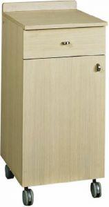 ML3200S Low single wheels oak service cabinet