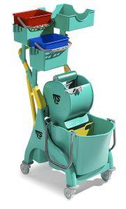 0P066539 Nick Plus 300  con secchio lavaggio con divisorio, secchi e vaschetta portaoggetti