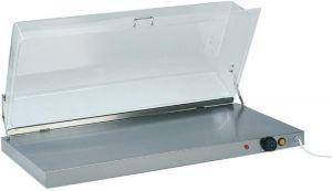 PCC4710 Plaque chauffante acier inox avec dôme rectangulaire en plexiglas 90x45x20h