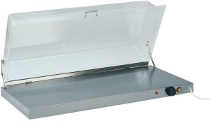 PCC4710 Stainless steel warming surface rectangular plexiglass cover 90x45x20h