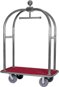 PV2001I  Stainless steel Trolley luggage rack and hanger