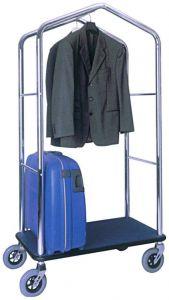 TPV 4056 Carrello portavaligie e portabiti cromato