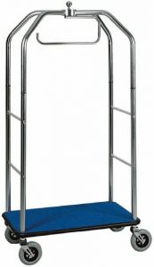 PV4064  Luggage trolley with clothing stand chromed steel