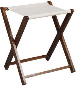 RE4019 Soporte para maletas de madera nogal Toalla de algodón
