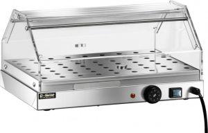 VBR4751 Vetrinetta riscaldata acciaio inox 1 piano 50x35x25h